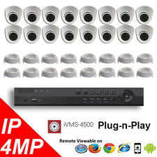 16CH NVR PoE 4K Hikvision LTS Security Surveillance 4MP IP Camera Kit Package