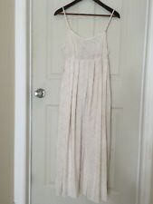 Laura Ashley slip-dress, nightgown, Ivory with pale pink floral. sz 12 UK