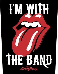 Rolling Stones I'm With The Band giant sew-on backpatch 360mm x 290mm (rz)