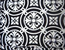 "Rose Tree ""Symphony"" Black & White Tailored  Window Valance - Lot / Set of 3 NIP"