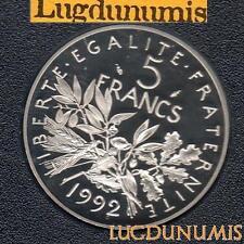 BE 1992 5 Francs Semeuse 1992 BE FDC 4 938 Exemplaires Provenant du Coffret BE