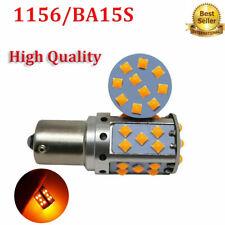 2x 1156 BA15S P21W Cree Chip LED Bulb Amber 3030 35SMD Error Free Car Turn Light