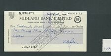 wbc. - CHEQUE - CH1126- USED -1965 - MIDLAND BANK, HENDON CENTRAL, LONDON NW4