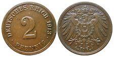 J 11   2 Pfennig Kaiserreich 1913 F in VZ  502863