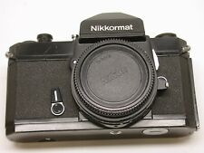 NIKON NIKKORMAT FT3 35MM MANUAL FOCUS FILM CAMERA..CAP..EYECUP..BLACK..VERY NICE
