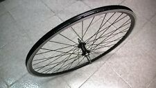 RUOTA POSTERIORE CITY BIKE 28 POLLICI IN ALLUMINIO COL NERO A FILETTO PER 6/7 V