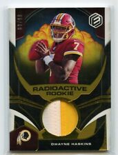 DWAYNE HASKINS RC 2019 PANINI ELEMENTS RADIOACTIVE ROOKIE PATCH GOLD SP 69/99