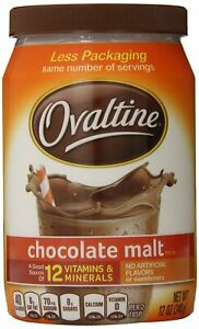 Nestle Ovaltine Chocolate Malt | Fat Free | 12-Ounce Tubs | Pack of 6
