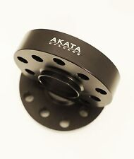15MM AUDI HUB CENTRIC WHEEL SPACER 5X100-5X112 CB 57.1 BLACK ANODIZED