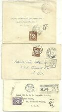 3 x GB POSTAGE DUE COMMERCIAL COVERS USED WITHIN LONDON 1934/46