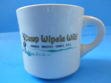Boy Scout Vintage Camp Wipala Wiki Coffee Cup Theodore Roosevelt Council B.S.A