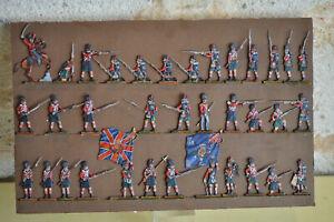 Plats d'étain flat tin Zinnfiguren SEGOM Black Watch Infanterie écossaise Waterl