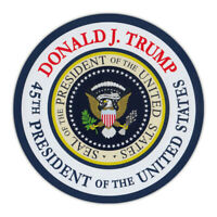 "Round Magnet - Donald Trump 45th President Commemorative Magnet - 4.75"" Diameter"