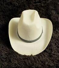 ALTA CALIDAD SOMBRERO RIDING HAT MEN'S SIZE 59 WHITE/NATURAL VINTAGE