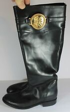 Juicy Couture  Black Leather Equestrian Riding Boot Sz 7 D