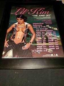 Lil' Kim The Jump Off Rare Original Radio Promo Poster Ad Framed!