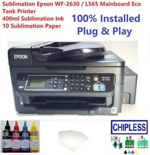 Sublimation Epson WF-2630 / L565 Mainboard Built-on Tank, 400ml Ink & 10 Paper