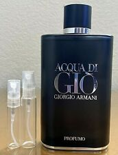 Giorgio Armani Acqua di Gio Profumo 5ml 10ml Glass Decant Samples