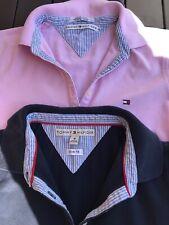 Original 2x Tommy Hilfiger Polo-Shirt,Gr.S+M,rosé+blau,kurzarm,Vintage