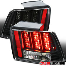 For 1999-2004 Ford Mustang Sequential LED Black Clear Tail Lights Lamps Pair
