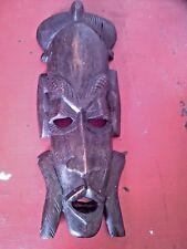 ANCIEN TRES BEAU MASQUE ART AFRICAIN JAMBO KENYA 1980 en bois