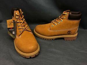 "Timberland 6"" Waterproof Boots Wheat Nubuck Brown Pre-School Boys Size 13 NEW!"