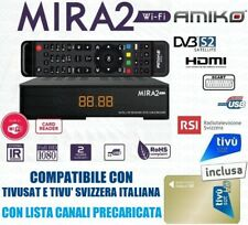 Tivusat Decoder Satellitare Amiko Mira 2 Full HD Con Scheda Inclusa Compatibile