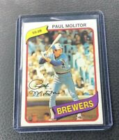 1980 Topps Paul Molitor Milwaukee Brewers