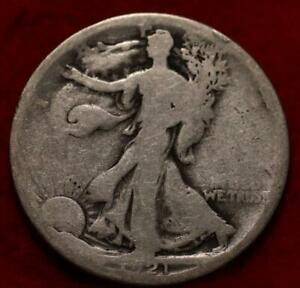 1921-S San Francisco Mint Silver Walking Liberty Half