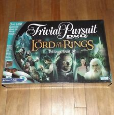 NEW & SEALED Lord Of The Rings TRIVIAL PURSUIT DVD board game TRILOGY EDITION