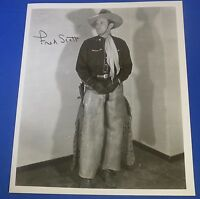 FRED SCOTT deceased 1991 signed autographed 8 x 10  actor singing cowboy
