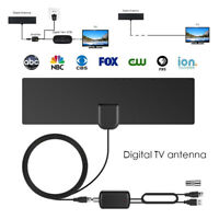 HDTV 1080P 80 miles digital indoor tv antenna with signal amplifier booster HG#