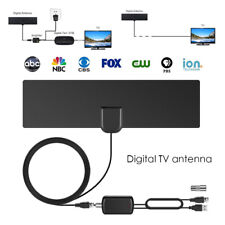 HDTV 1080P 80 miles digital indoor tv antenna with signal amplifier booster ZT