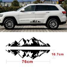 76x16.7cm Mountain Range Sticker Vinyl Decals Sticker For Car AUTO Jeep Truck 2X