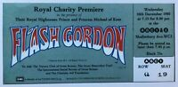 Flash Gordon 1980 Royal Charity Premiere ABC1 Ticket Replica Card - New / Rare