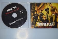 Simple Plan ‎– Welcome To My Life. CD-SINGLE PROMO