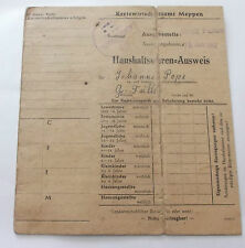 2ww german used house occupants registration / ration  card for meppen