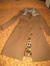 DOLCE & GABBANA Coat Trench Cappotto marrone nocciola con pelliccia TG 42 as New