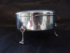 Jewellery Box Sterling Silver American Engraved Engine Turn 1880 Antique Antique