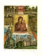 Monastery of Santa Maria de Ripoll Spain, Religious Ex libris by S. Kirnitskiy