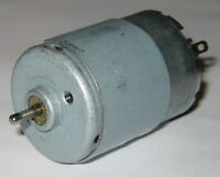 RS-385 Electric DC Hobby Motor - 24 VDC – 7420 RPM - RS-385PH - 2.3mm Shaft Dia.