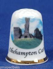 Okehampton Castle, Devon 'Exclusive' China Thimble B/54