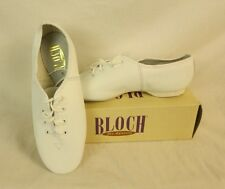 Bloch JazzFlex Leather Dance Shoes NEW Kids Size 5 White with laces 24F S0404L