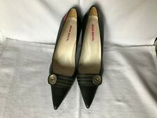 Miss Sixty Black High Heels Shoes Leather Size 37 UK 4 Pointed Toe