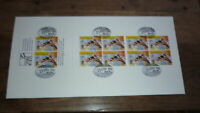 1996 AFL CENTENARY STAMP BOOKLET OF 10 STAMP FIRST DAY COVER, RICHMOND FC