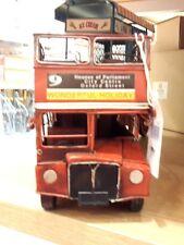 Antique London Bus Car Model Handmade Beauty Souvenir Vintage Vehicle Retro Rare