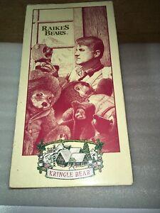 "Signed Robert Raikes Bear 51907 ""Kringle Bear"" COA BUU 734/5000 1994"