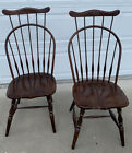 Pair of Antique Vintage Windsor Comb Back Chairs Made In Slovenia Rare
