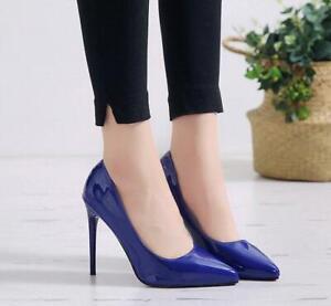 Fashion Ladies Super High Stiletto Heels Pointed Toe Slip On Pumps Shoes Plus Sz
