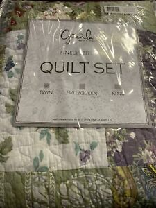 Blooming Prairie Bedding  twin Size 100 Cotton Easy Care Reversible Quilt Set